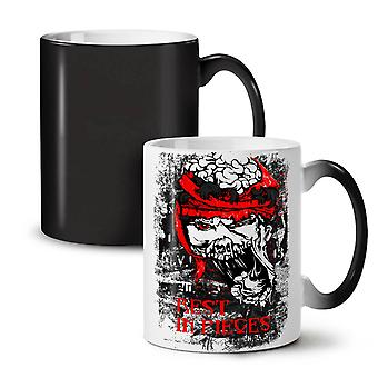 Rest In Pieces Zombie NEW Black Colour Changing Tea Coffee Ceramic Mug 11 oz | Wellcoda