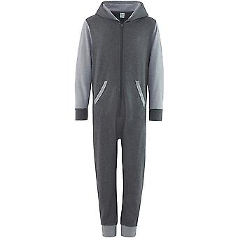 Comfy Co Childrens/Kids Two Tone Contrast All-In-One Onesie