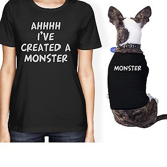 Created A Monster Small Pet Owner Matching Gift Outfits Black Gifts