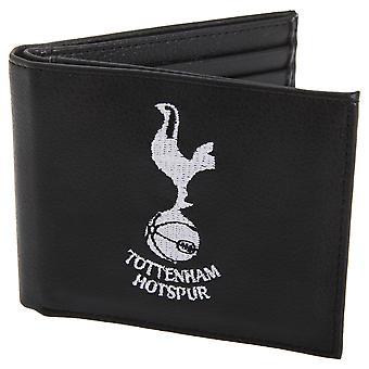 Tottenham Hotspur FC ufficiale Mens portafoglio in pelle con Stemma ricamato calcio