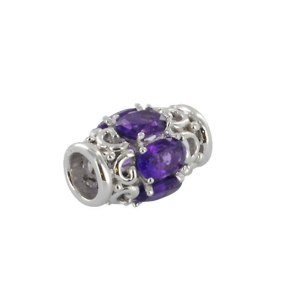 Shipton and Co Ladies Shipton And Co Silver And Amethyst Charm DQA241AM