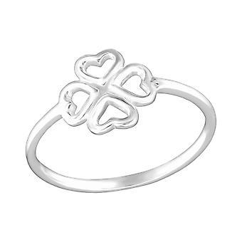 Firkløver - 925 Sterling Silver ren ringer - W26174x