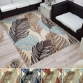 Modern Design Short Flor Rug Feather Feather Feather