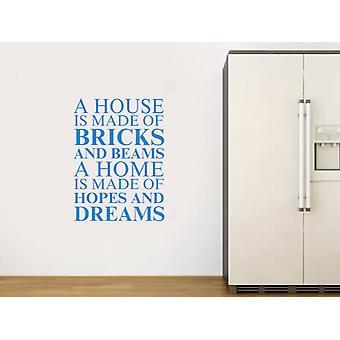 Una casa se hace de Wall Sticker Art - azul olímpico