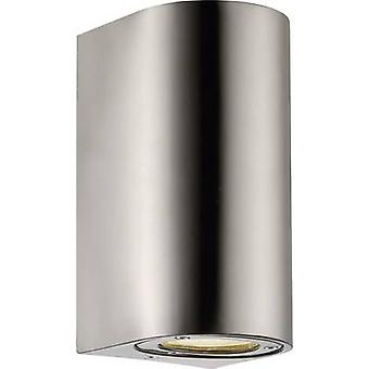 Nordlux Canto Maxi 77561034 Outdoor wall light HV halogen GU10 70 W Stainless steel