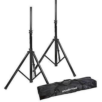 Alu Boxenständer 2er-set inkl. Tasche PA högtalare Stand set teleskopiskt, höjd justerbar 1 st (s)