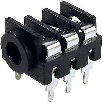 Acantilado FCR1295 3.5 mm conector de audio toma, número de montaje horizontal de los pernos de: 3 estéreo negro 1 PC