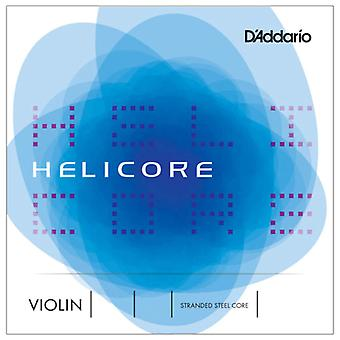 Helicore Violin Single D String, 4/4 Scale, Medium Tension