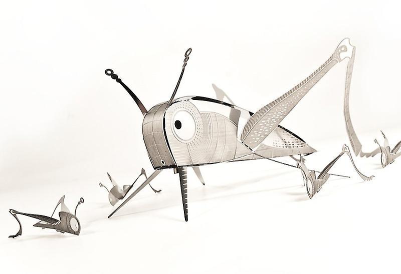 Grasshopper XL Bug Origami Stainless Steel Construction Kit