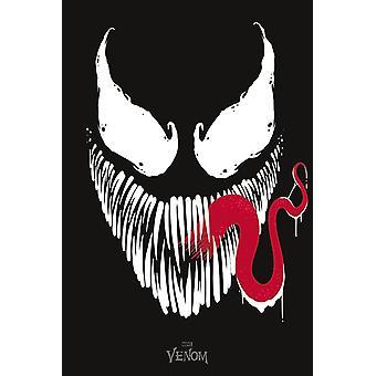 Marvel Comics Poster Venom Face  91,5 x 61 cm