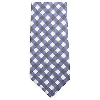 Gravatas de Knightsbridge verificado empate - azul escuro/branco