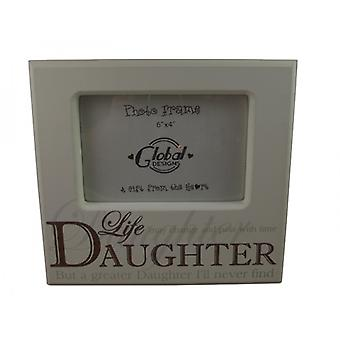 Sentimental Daughter Cream Photo Frame
