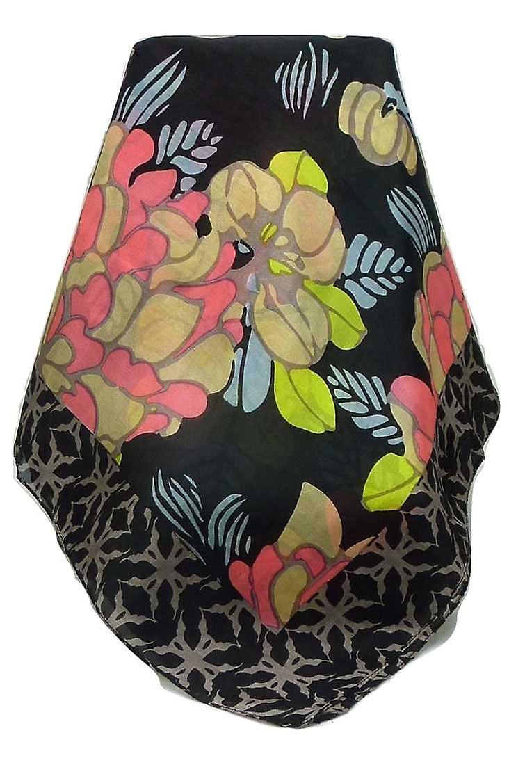 Mulberry Silk Contemporary Square Scarf Talatal Peach by Pashmina & Silk