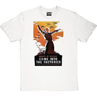 Women of Britain Come Into the Factories White Men's T-Shirt
