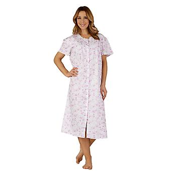 Algodón Slenderella ND3207 mujer tejido lila púrpura noche vestido Loungewear camisón