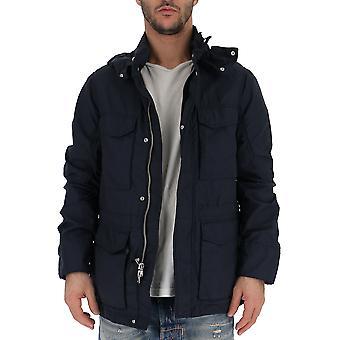 Woolrich Wocps2791ut12083989 Men's Blue Nylon Outerwear Jacket