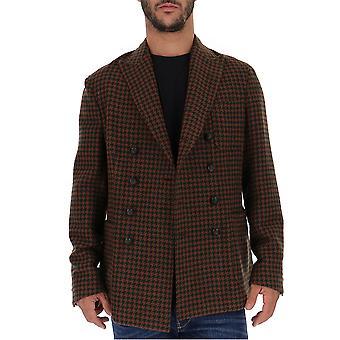 The Gigi Ziggyj0261050 Men's Brown Wool Blazer