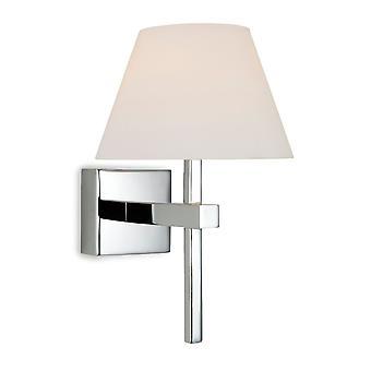 Firstlight-1 baño de luz pared cromo, vidrio opal IP44-8639CH