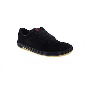 Etnies Senix LO  Mens Black Suede Low Top Athletic Surf Skate Shoes