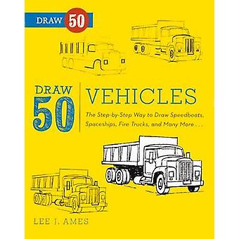 Draw 50 Vehicles - The Step-By-Step Way to Draw Speedboats - Spaceship