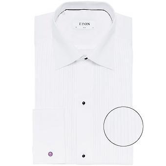 Eton Slim Fit camisa de vestido plisado