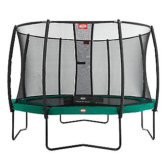 BERG Champion 380 12.5ft Trampoline+ Safety Net Deluxe Green
