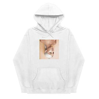 Officiel Ariana Grande Hoodie Sweetener Portrait Logo nouveau Unisex White Pullover