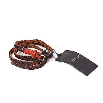 Maison Scotch Multicolur Braided Leather Belt