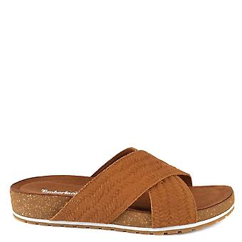 Timberland Malibu Waves Brown Cross sliders