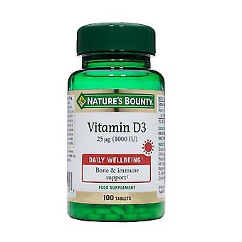 Nature's Bounty vitamine D3 25ug (1000iu) tabletten 100 (N15605)
