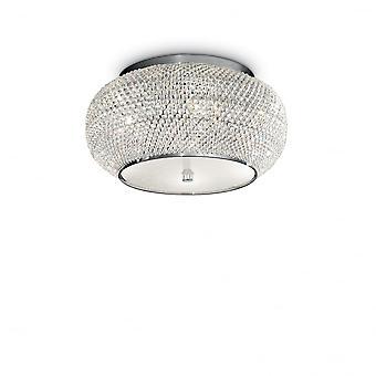 Ideale Lux Pasha 6 Bulb Superficie Spotlight Chrome