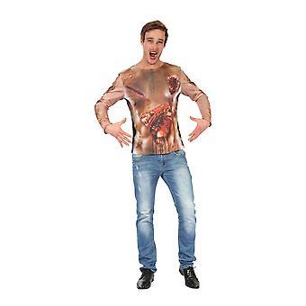 Bristol Novelty Homme S'est imprimé 3D 3D À manches longues T-Shirt