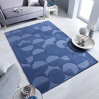 Gigi Wool Rugs In Denim Blue From The Moderno Range