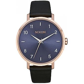 Nixon the arrow watch for Japanese Automatic Analog Woman with Cowskin Bracelet A10913005