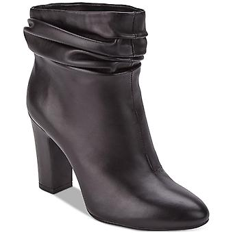 DKNY Womens Sabel Leather Almond Toe Ankle Fashion Boots