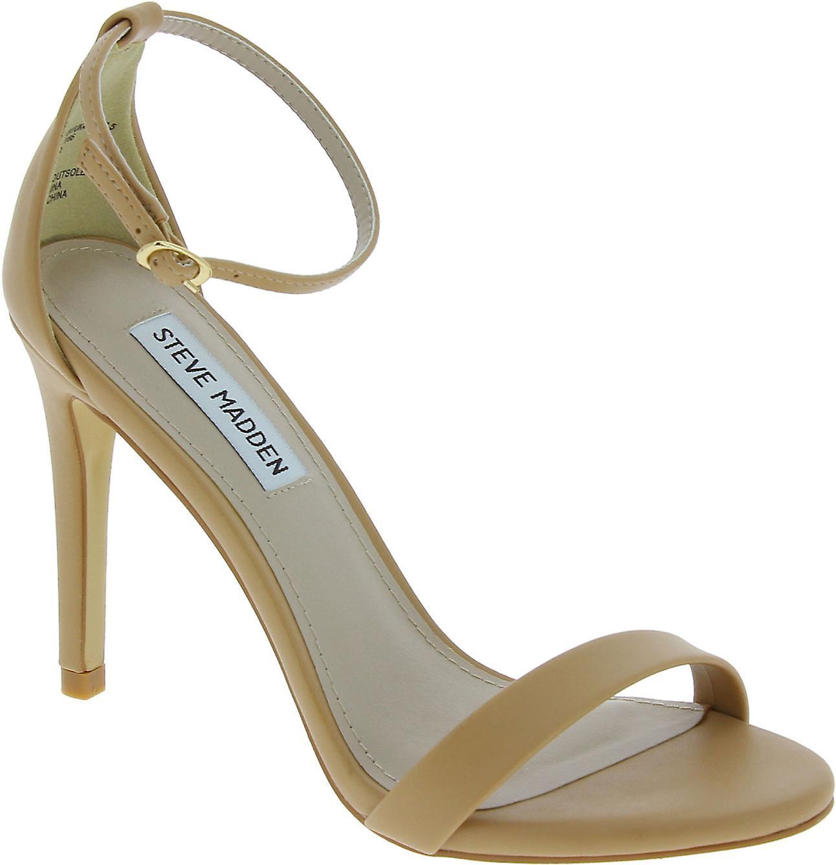 Steve Madden Kobiety's wysokie szpilki sandały klamra w nagiej sztucznej skóry dW4ra