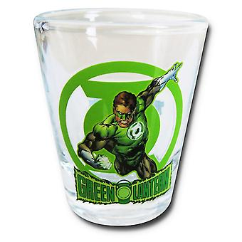 Green Lantern in Action Mini Glass