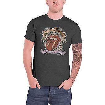 Den rullande stenar mens T shirt Grey dess enda Rock n roll tjänsteman