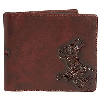 Simon Carter T-Rex Zipped Wallet - Brown