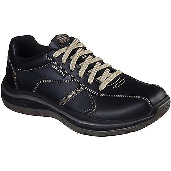 Skechers Mens Expected 2.0 Belfair Lace Up Leather Shoes