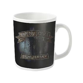 Bon Jovi Mug New Jersey logo du groupe nouveau blanc officiel