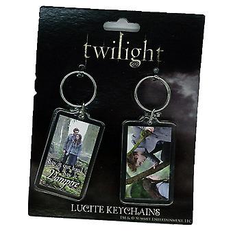 Twilight Lucite Schlüsselanhänger 2 Pk Set 5 (Ed und Bella Wald)