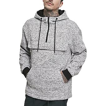 Urban Classics-neule fleece pull-over Hoody harmaa