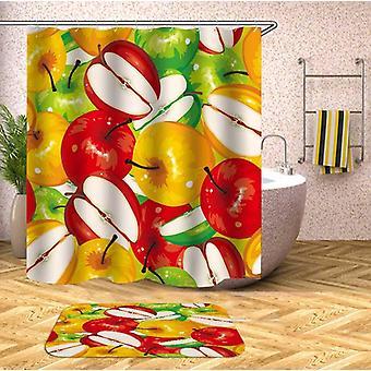 ثلاثة لون التفاح دش الستار