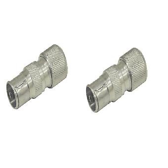 2 x Buchse TV COAX ARIEL CONNECTOR PLUGS TV AERIAL FOR CABLE LEAD Steckdosen