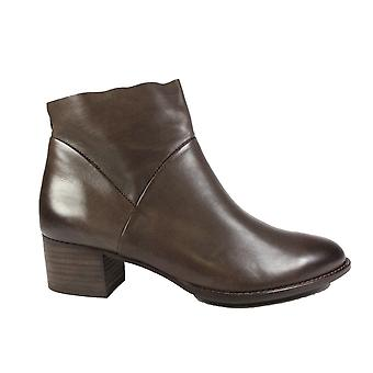 Paul Green 8847-17 Brown Leather Womens Ankle Boots