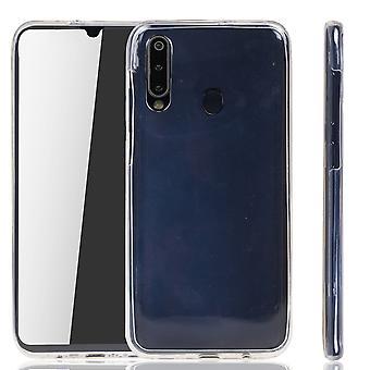 Funda Samsung Galaxy M30 Caso 360 Funda de protección del teléfono Cubierta completa TPU caso transparente