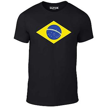 Mannen ' s Brazilië internationale vlag t-shirt
