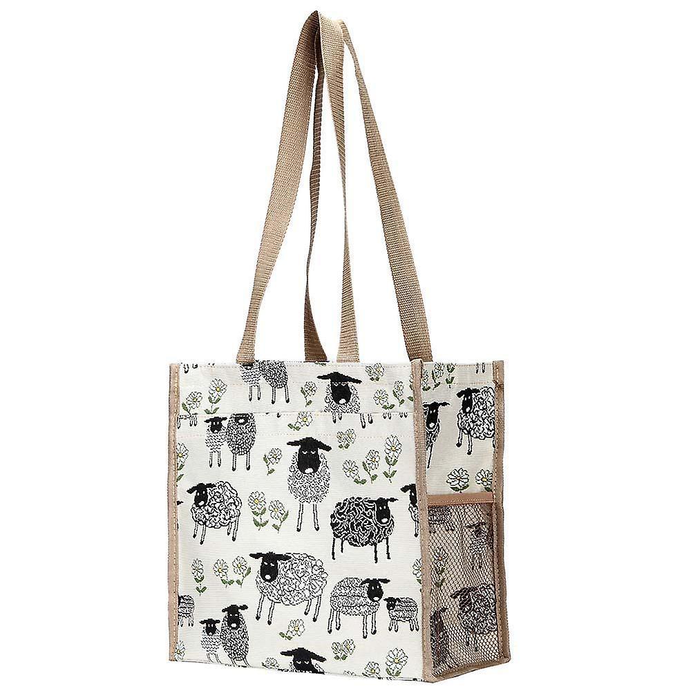Spring lamb reusable shopper bag by signare tapestry / shop-splm