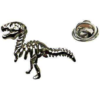 Bassin und braun Dinosaurier Anstecknadel - Silber